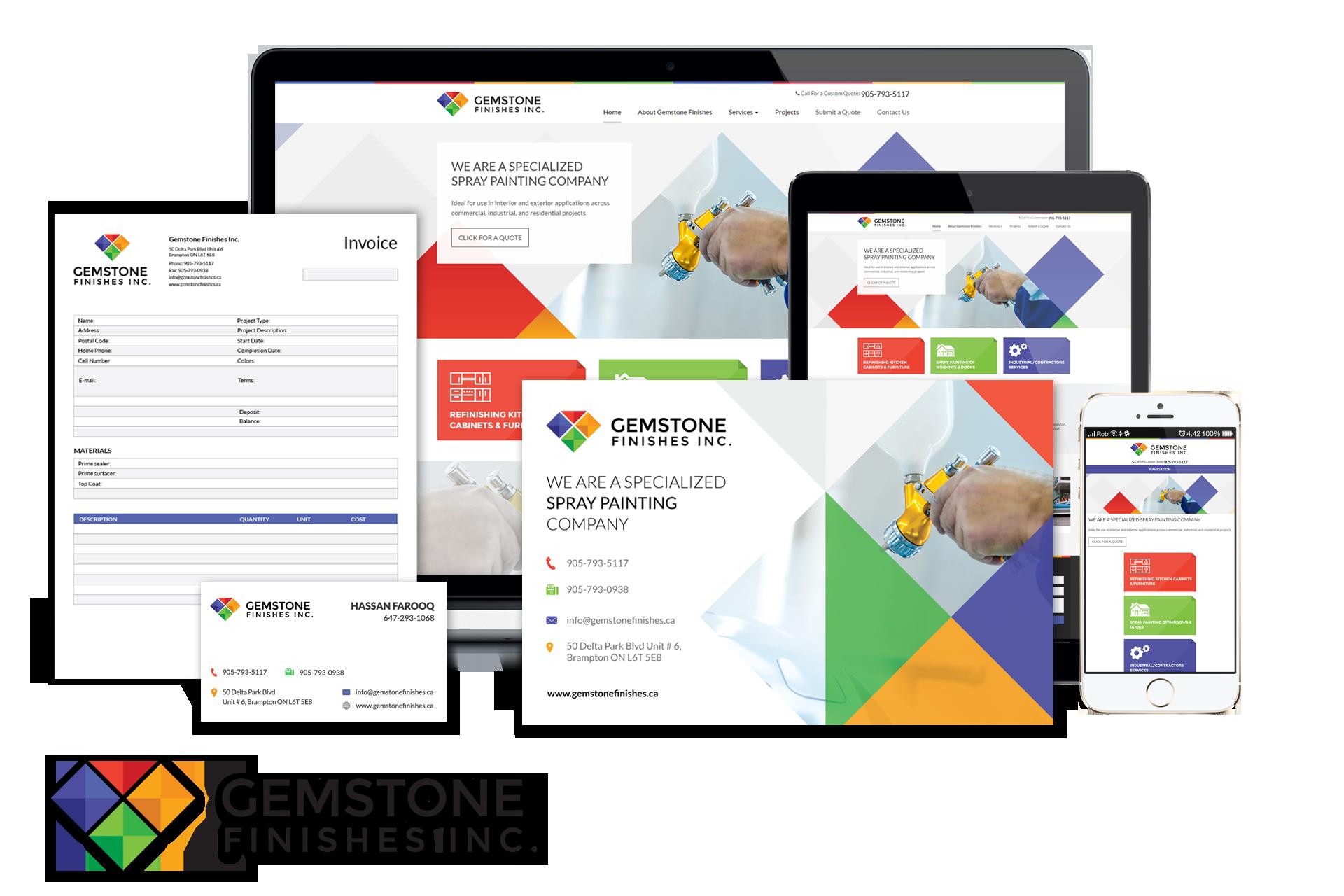 Gemstone logo samples