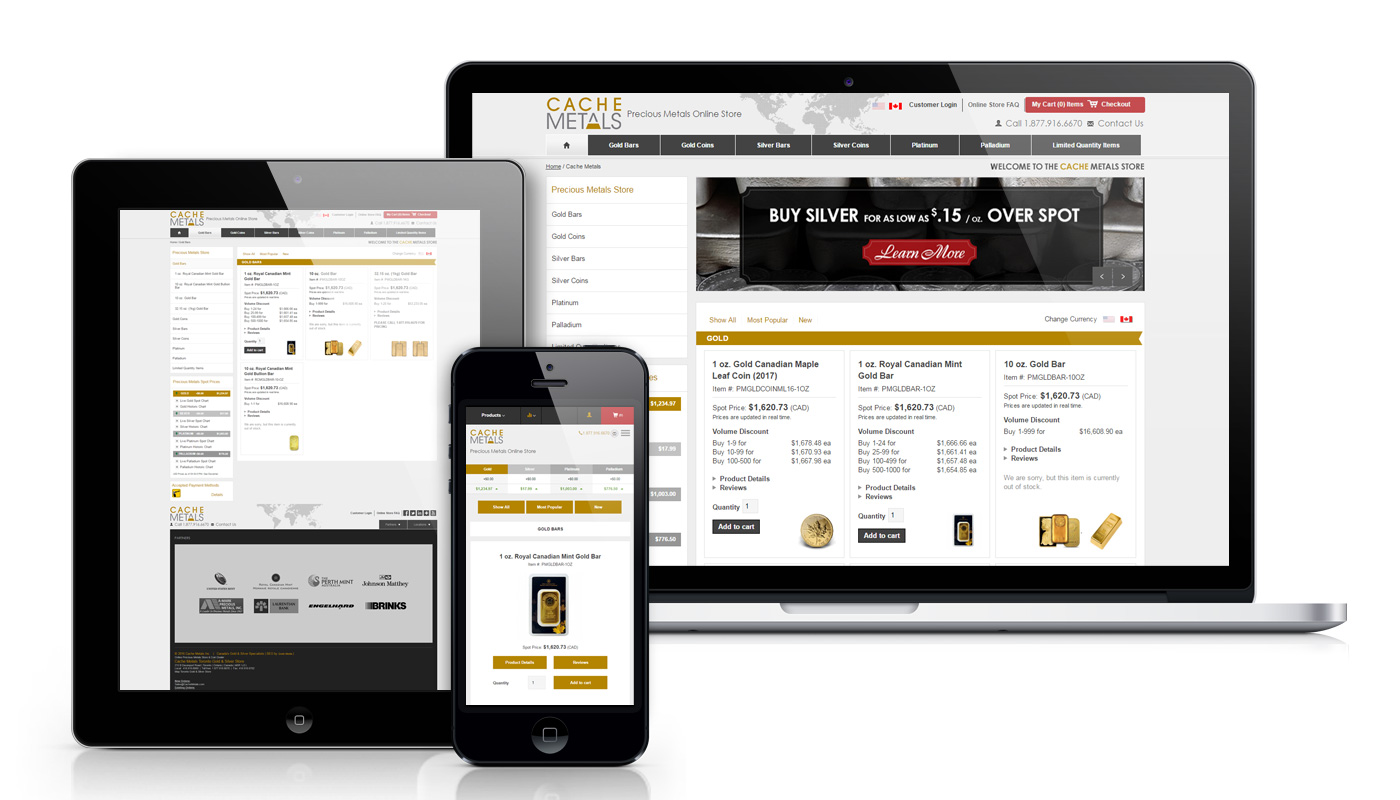 mobile-website-design-precious-metals-ecommerce
