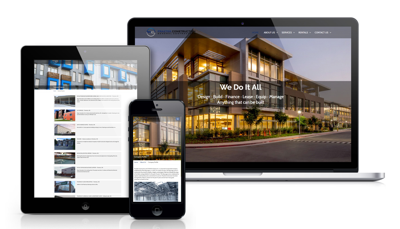 praztek-constructions-website-design